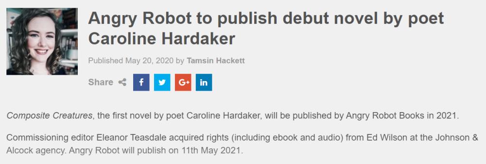 Caroline Hardaker Writes